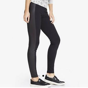 Express Black Leggings with Coated Side Stripe XS